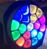 Bienen-Augen-bewegliches Hauptträger-Licht der Stadiums-Beleuchtung-RGBW LED bewegliches grosses des Kopf-19X15W