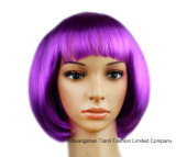 Fashion variopinto Party Wigs Bob Lace Wigs con Bangs