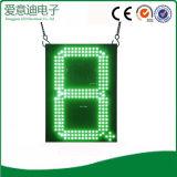 주유소 이용된 LED 손가락 번호 표시