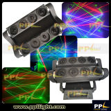 Oito Cabeças 8 Olhos RGB Laser Moving Head Spider Light