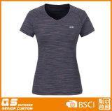 T-shirt de mélange de la mode des femmes