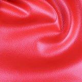 Tessuto di riserva poco costoso del cuoio sintetico del PVC del grano del litchi per il sofà (806#)