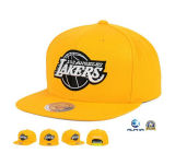 黄色いウールのバスケットボールのスポーツチーム平らな帽子