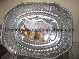 Cadre de repas en vol avec le papier d'aluminium