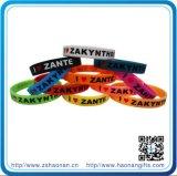 Bracelets faits sur commande de silicone de cadeaux de la publicité de produits de la Chine d'importation (HN-SB-0090)