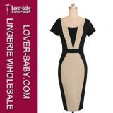 Платье способа тавра MIDI Bodycon женщины (L36100-3)