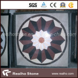 Blanc/beige/Brown/configuration de marbre noire de Special de mosaïque