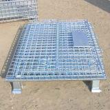 Envase plegable galvanizado ISO9001 del alambre del almacenaje del almacén
