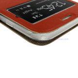 Kundenspezifischer lederner mobiler Fall/Deckel mit intelligentem wachen auf,/schlafende Funktion