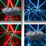 9PCS*10wrgbw 4in1 LEDのフルカラーの無限くもの移動ヘッドライト
