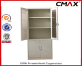 Drawer School Office Filing Cabinet Cmax-FC04-008の鋼鉄食器棚GlassおよびMetal Door