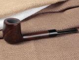 Pipe en bois de fumée de tabac de bois d'ébène noir normal en gros de Dropshipping