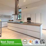 Elegante UV Hoog polijst Keukenkast met de Lijst van het Eiland