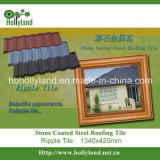 Tipo mattonelle dell'ondulazione di tetto rivestite del metallo della pietra