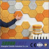 Panneaux décoratifs de mur acoustique insonorisé de copeaux de bois