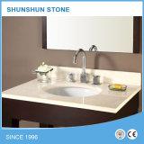 Encimeras y tapas de piedra blancas de la vanidad para el cuarto de baño y la cocina