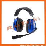 Над головным шумом отменяя двухсторонний Radio кабель Qith XLR шлемофона