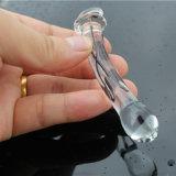Vibrador de vidro do brinquedo do sexo para as mulheres Injo-Dg216