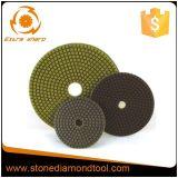 Rilievi abrasivi di lucidatura asciutti bagnati del pavimento del diamante per il marmo del granito