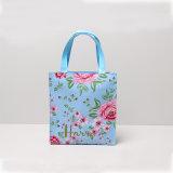 Deux tailles imperméabilisent les sacs à main floraux de sac à provisions d'impression de PVC (H036-007)