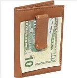 Carteira feita sob encomenda do couro do suporte de cartão do grampo do dinheiro do couro