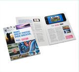Brochure visuelle faite sur commande d'écran LCD de 4.3 pouces