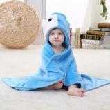La couverture/animal nouveau-nés mous superbes de flanelle de bébé forme les poissons stéréoscopiques du manteau 3D