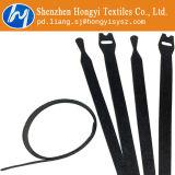 Ataduras de cables negras de la cerradura del gancho de leva y del bucle