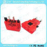 交流電力のソケットのプラグユニバーサル旅行壁の充電器のアダプター(ZYF9023)