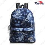 Trouxa impressa forma de Daypack do saco do Satchel da lona para caminhar, viajando