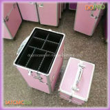 Zwei in einem rosafarbenen ABS Fachmann bilden Künstler-Laufkatze-Kasten (SATCMC014)