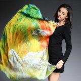 Multicolor напечатанный шарф 100 * 100 Cm Silk лошади сатинировки большой квадратный