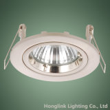 Twist blanco Rock Ring Muere-Cast Aluminum GU10 3W 5W LED Recessed Downlight