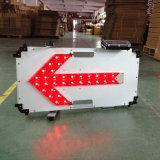 Solar LED seta de direção Aviso Board Sinal de tráfego