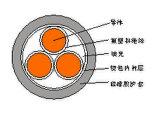 Cable de transmisión resistente de alta temperatura forrado plástico aislado plástico de Fluorin Fluorin de la base de cobre