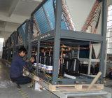 CE, TUV, En14511 certificado R410A 12kw, 19kw, 35kw, 70kw, 105kw pompa de calor aire-agua máxima del enchufe 65deg c para el calentador central casero grande