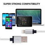 USB алюминиевого нейлона Braided для зарядного кабеля Sync данным по Pin iPhone 8