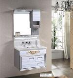 Spritzen-weißer Edelstahl-Badezimmer-Schrank