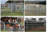 Galvanisé 6 panneaux de bétail d'acier de barres/panneau galvanisé plongé chaud de bétail de bétail des bétail Panel/1.8X2.1m de matériel de ferme de panneaux/bétail de Livetsock de bétail à vendre