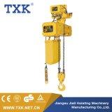 Alzamiento de cadena eléctrico de la tonelada Er2 de la oferta 3 de Txk con la carretilla
