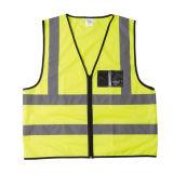 Veste preta do aviso do bolso de cartão conhecido (R121-ZP)