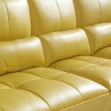 Cuir véritable L sofa de salle de séjour de forme (898#)