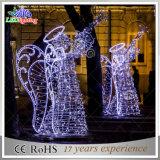 Indicatore luminoso bianco di cerimonia nuziale della decorazione di angolo LED del metallo esterno di festa