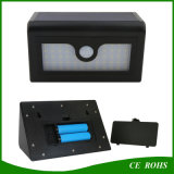 indicatore luminoso solare impermeabile esterno della parete di movimento 50LED del sensore della lampada solare sensibile astuta nazionale del giardino LED con le batterie sostituibili