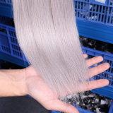 Выдвижение человеческих волос для польностью головных серых волос выдвижения