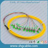 12 a única modalidade do núcleo FC/APC ajuntou o Pigtail de fibra óptica