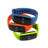 Wristband esperto do podómetro do contador da caloria do sensor da frequência cardíaca de Bluetooth