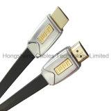 Cabo liso do metal M/M HDMI para o jogador de PS4/HDTV/HD