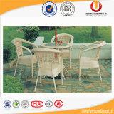 طاولة مع 4 كرسي تثبيت لأنّ خارجيّ [ب] [رتّن] أثاث لازم ([أول-بف])