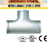 304 installazioni Grooved del raccordo a T delle estremità dell'acciaio inossidabile